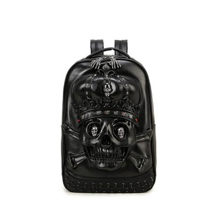 3d-Pu-Leather-Skull-Crown-Backpack-Youth-Fashion-School-Bags-Knapsack-For-Teenage-Boys-Bookbag-Zaino 2
