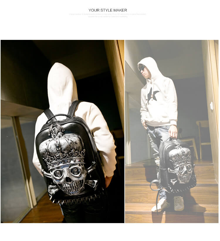 3d-Pu-Leather-Skull-Crown-Backpack-Youth-Fashion-School-Bags-Knapsack-For-Teenage-Boys-Bookbag-Zaino detail 6