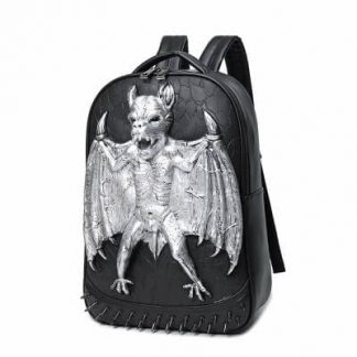 Punk vampire bat rivet waterproof computer school bagback 1