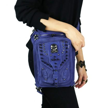 Cmx getfashionbags Blue steampunk skullbag 2