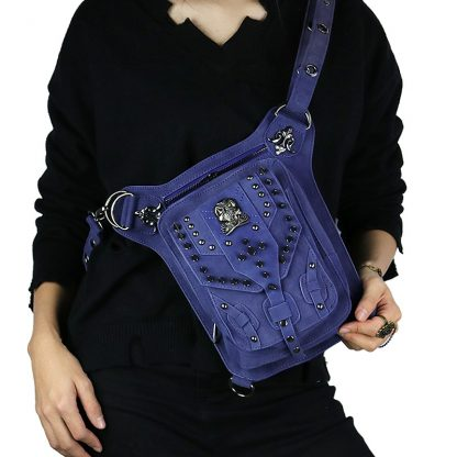 Cmx getfashionbags Blue steampunk skullbag 3