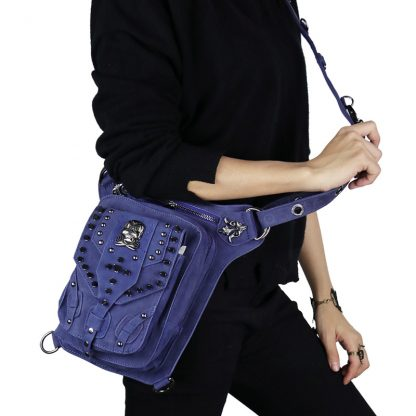 Cmx getfashionbags Blue steampunk skullbag