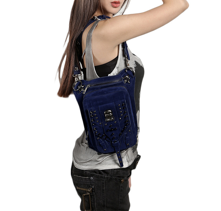 Cmx getfashionbags Blue steampunk skullbag description 9