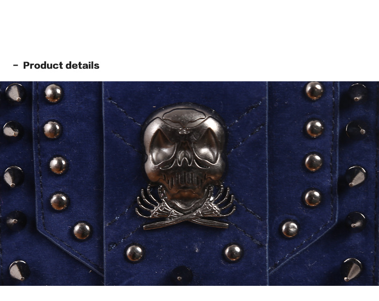 Cmx getfashionbags Blue steampunk  skullbag product detail 1