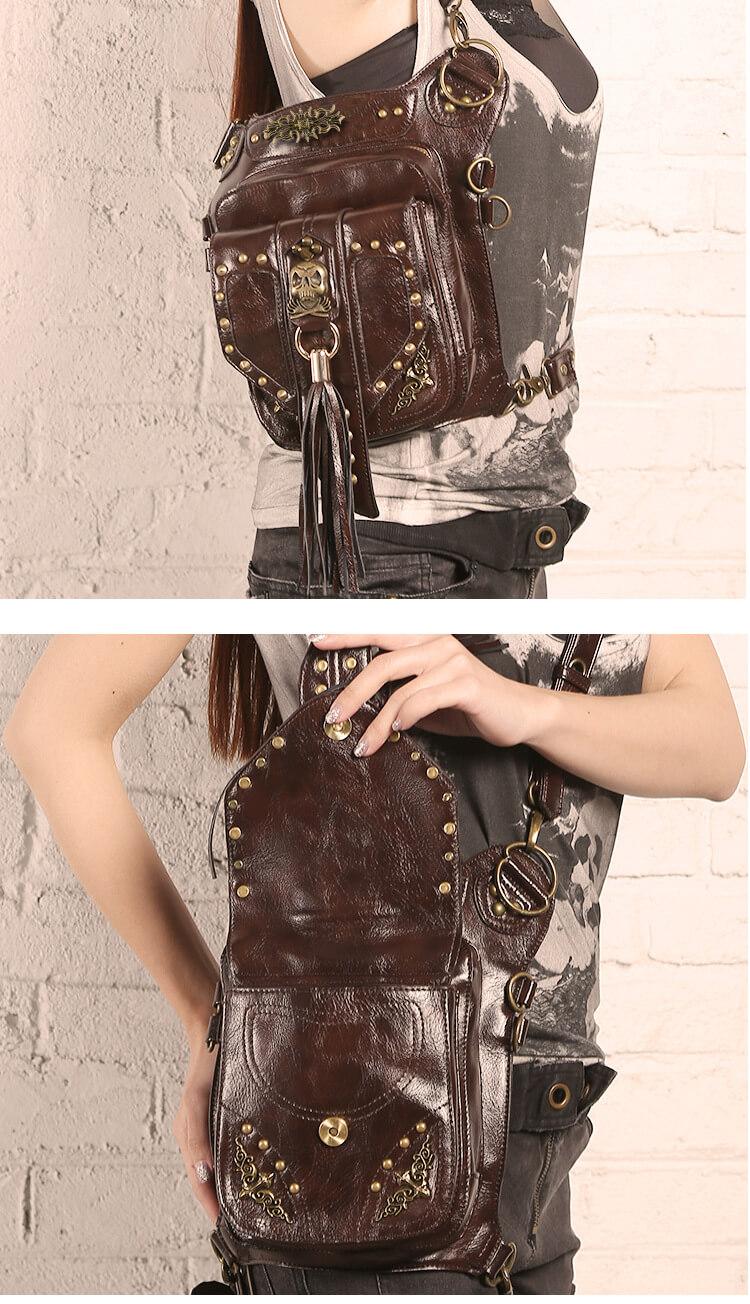 CMX Cool Skull Steampunk waist Bags DETAIL 4