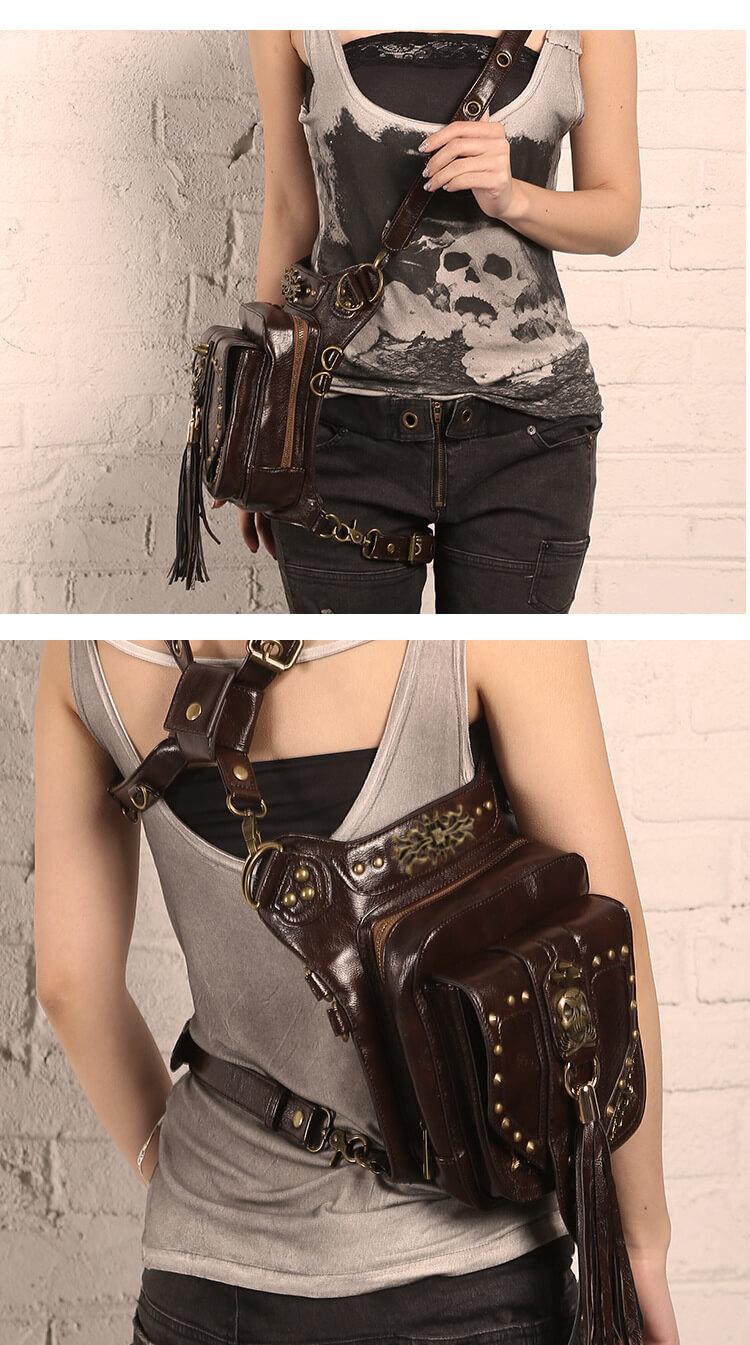 CMX Cool Skull Steampunk waist Bags DETAIL 5