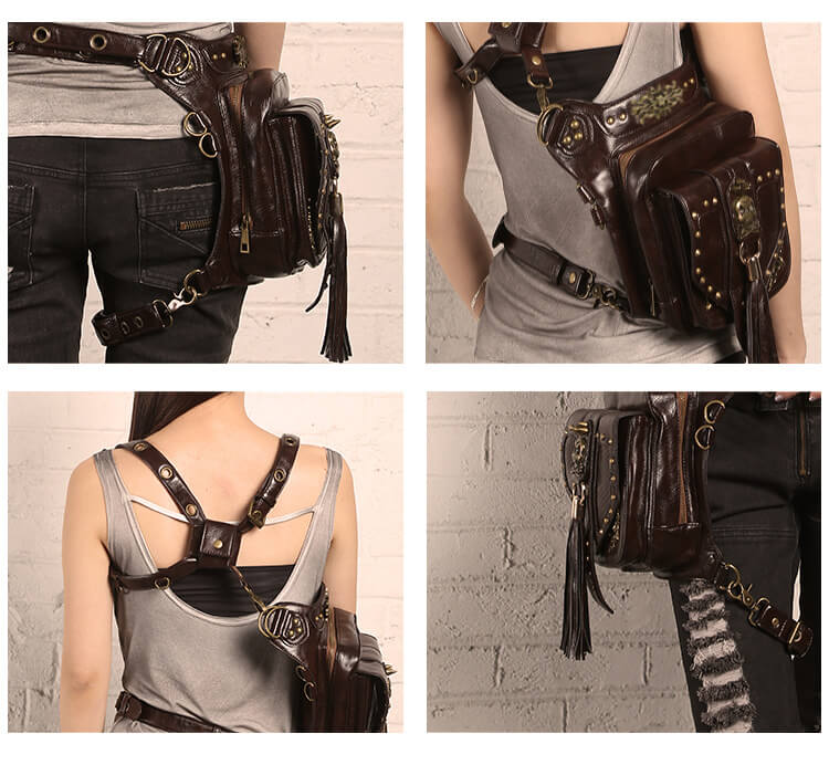 CMX Cool Skull Steampunk waist Bags DETAIL 6