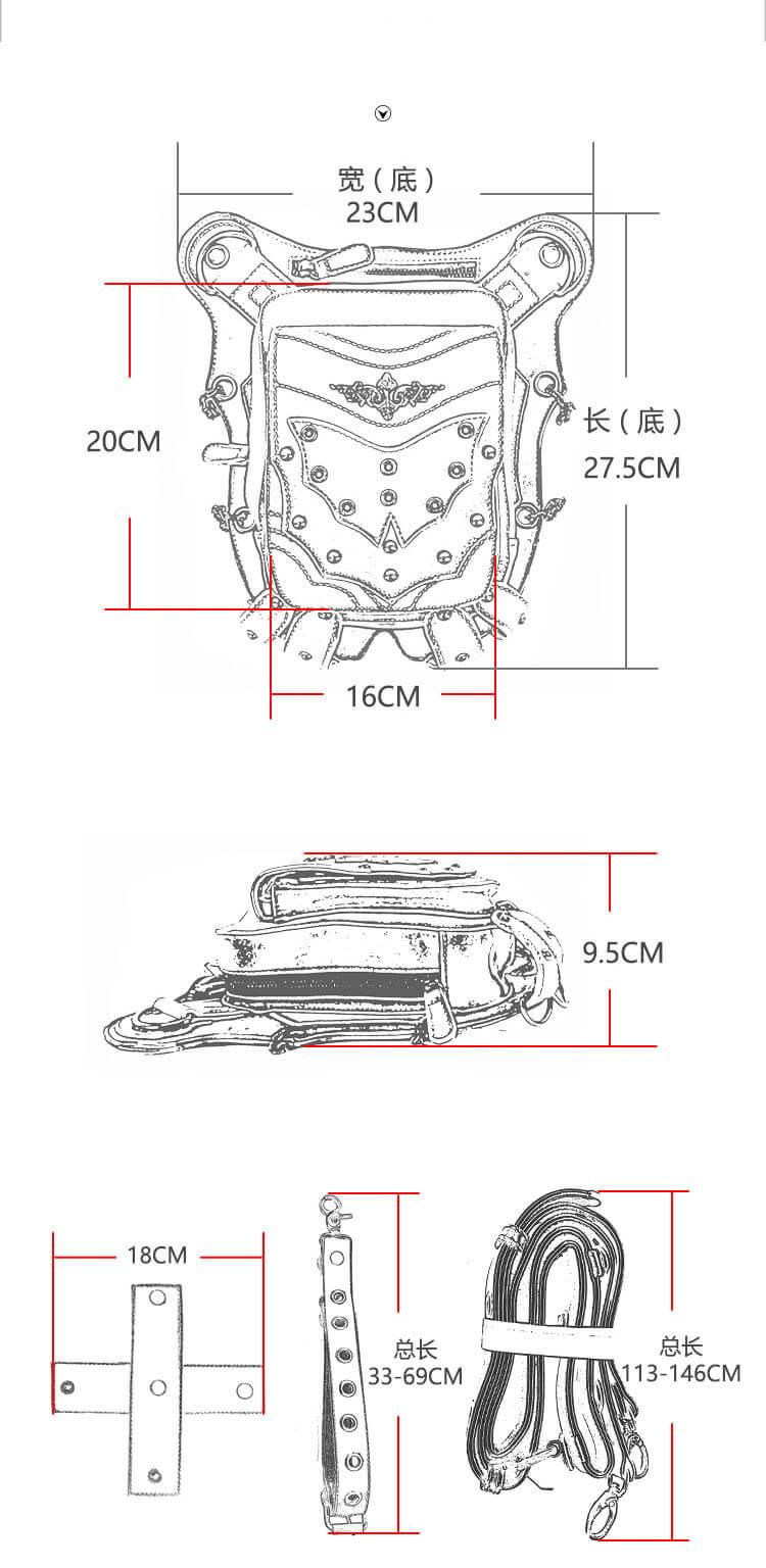cmx getfashionbags Red Bat Waist Packs detail 0