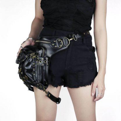 black gothic shoulder bag