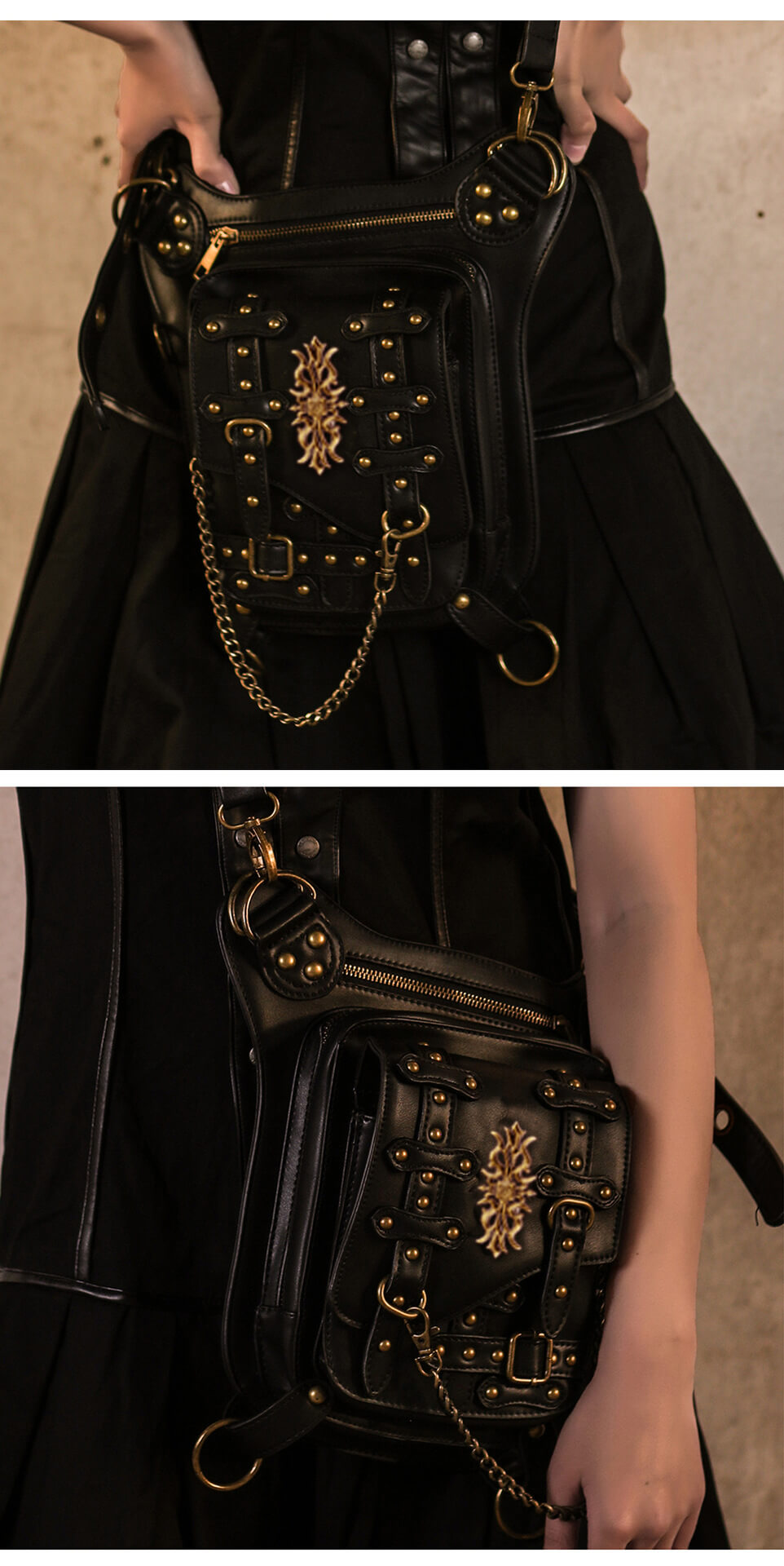 steampunk leather messenger bag 4