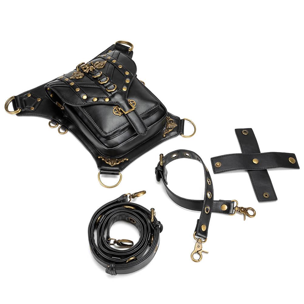 black steampunk men's waist bags uk 5