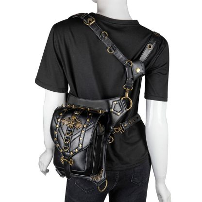black steampunk waist bag tactical 4