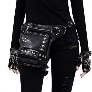 black steampunk waist bags for sale 1
