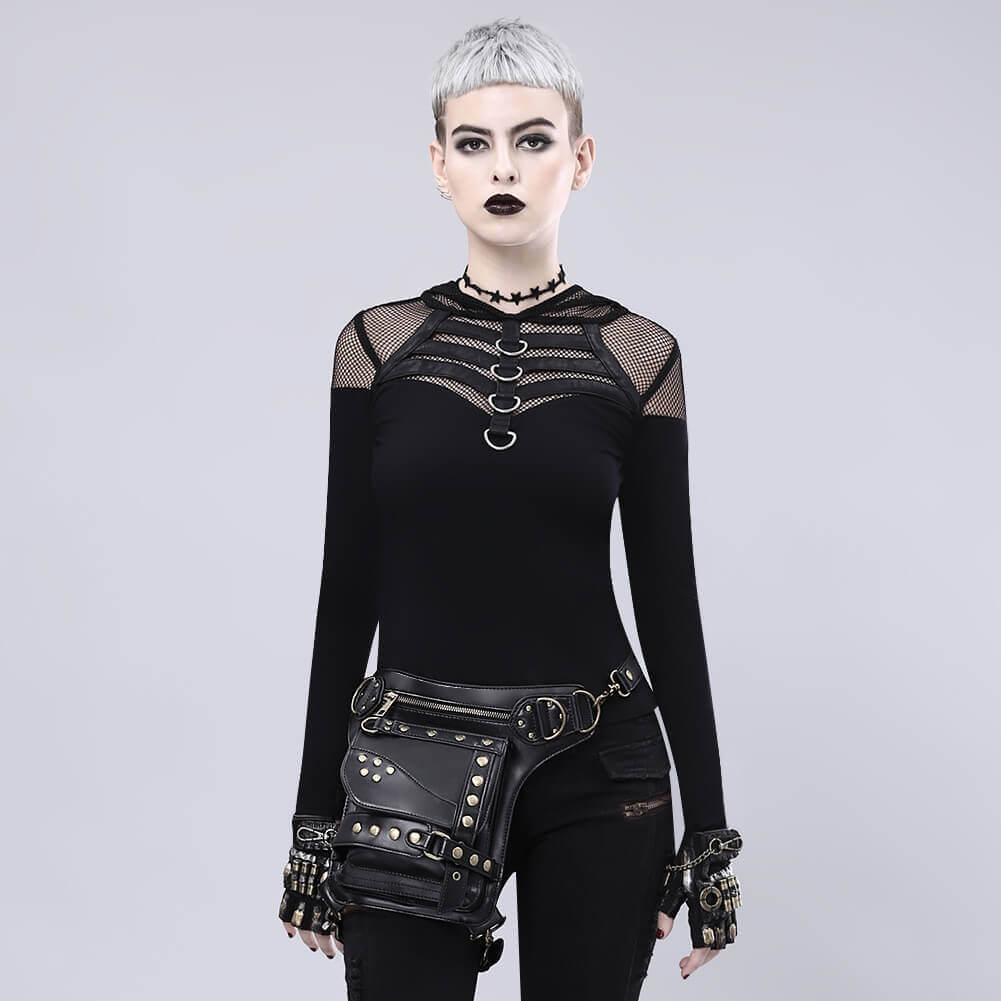 black steampunk waist bags images 1