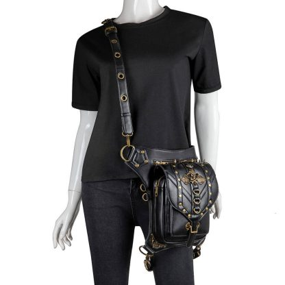black steapunk waist bag tommy 3