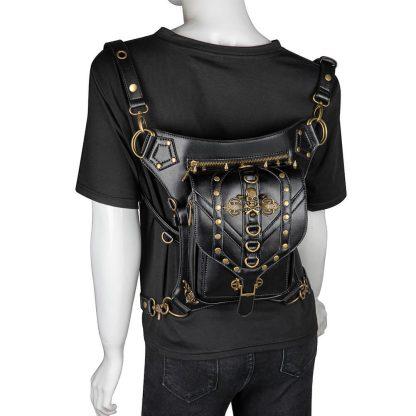 black steapunk waist bag transparent 2