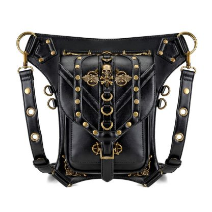 black steapunk waist bags uk 5
